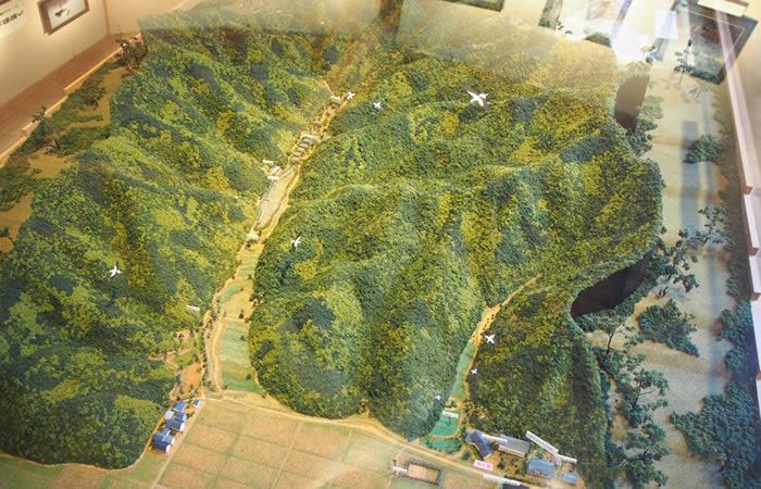 地域の地形(模型)