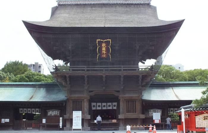 筥崎宮の神門