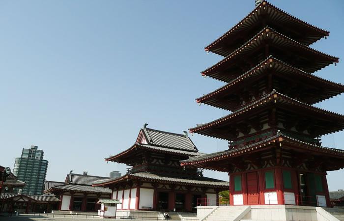 大阪・四天王寺の中心伽藍