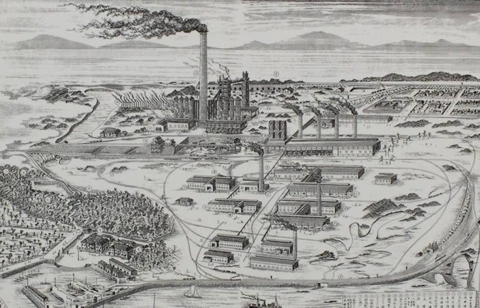 創業時の八幡製鉄所全景