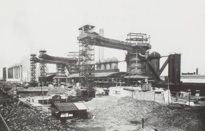 明治42年(1909年)の東田高炉