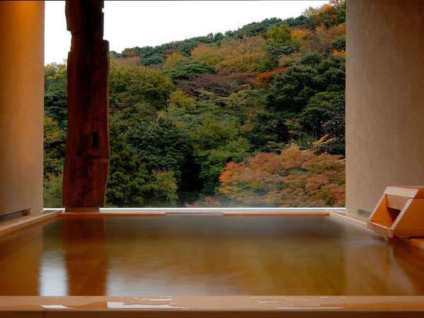 貸切露天風呂の景色