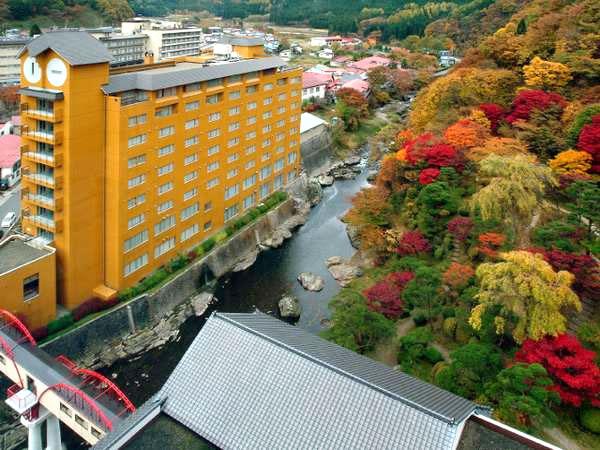 湯瀬ホテルの外観
