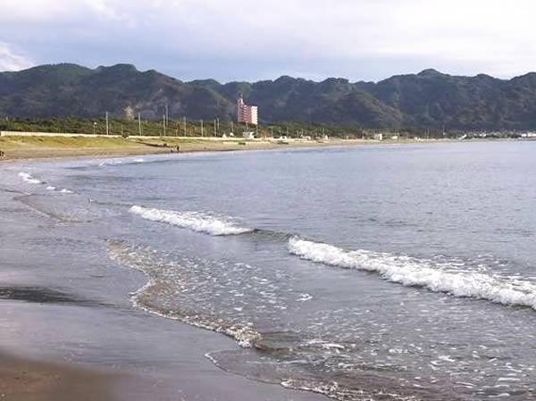 岩井海岸の浜辺
