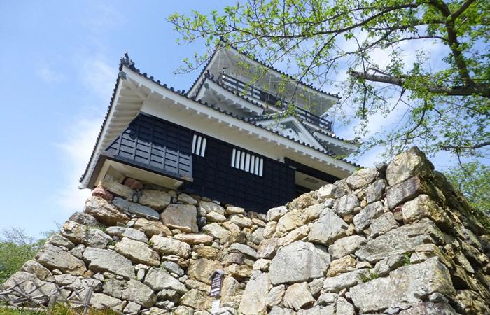 浜松城の野面積みの石垣