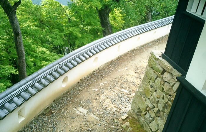 備中松山城の天守周辺