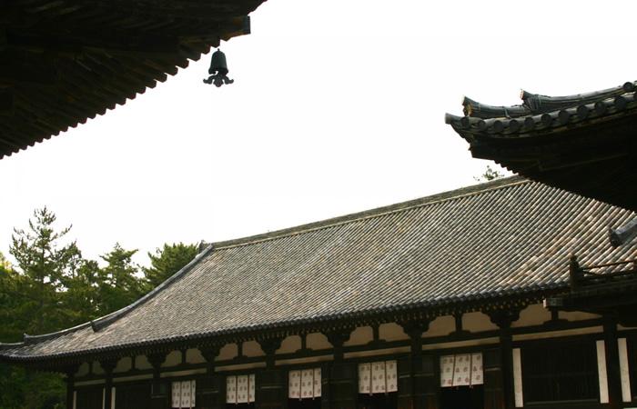 唐招提寺の講堂の大屋根